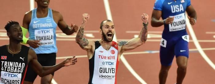 Aserbaidschaner Ramil Guliyev gewann 200-m-Gold vor Van Niekerk für Türkei - VIDEO