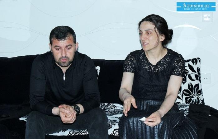 """Şəhid polkovnikin xanımı: """"Dörd aydır qapılarda süründürürlər"""""""