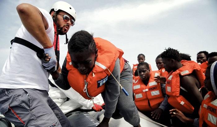 Salah, el asilado sirio en primera línea de rescate