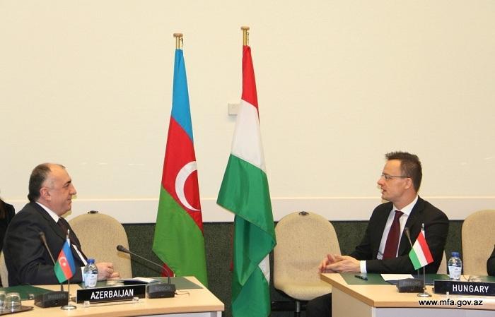 Mamadyarov se  reúne con su par húngaro