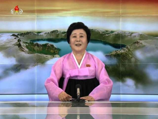 North Korea's 'pink lady' broadcaster once again serves up earth shaking news
