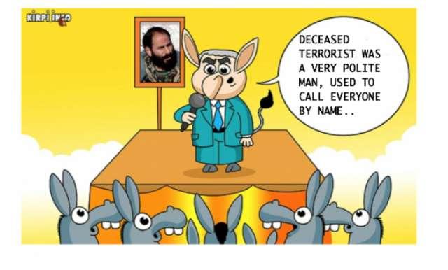 Terrorist's most impolite word- CARTOON