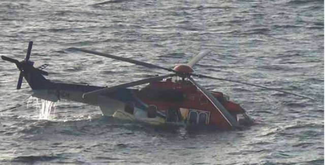 Helicopter crashes in Caspian