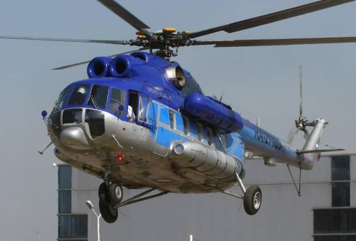 Rusiya helikopteri Norveçdə dənizə düşüb