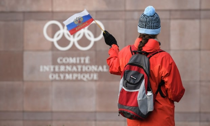 Russia banned from Winter Olympics over state-sponsored doping