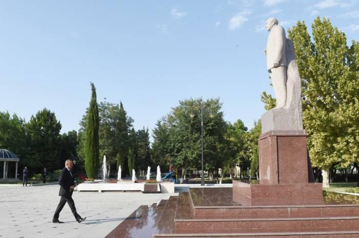Le président Ilham Aliyev est à Samoukh