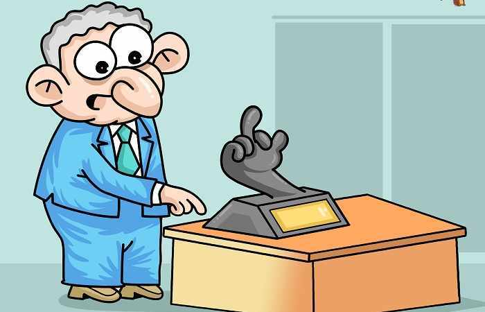 Stinkefinger für Sargsyan  - Karikatur