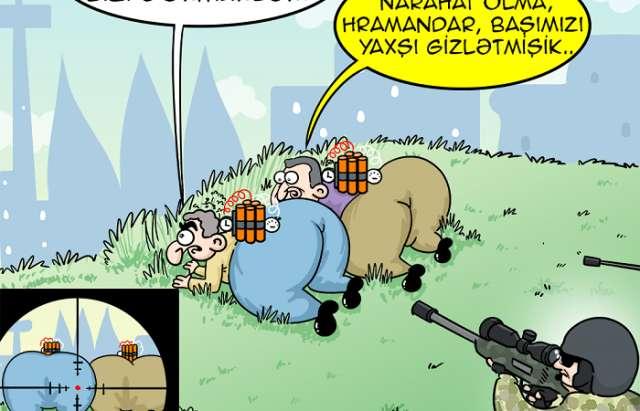 Erməninin terror cəhdi - KARİKATURA
