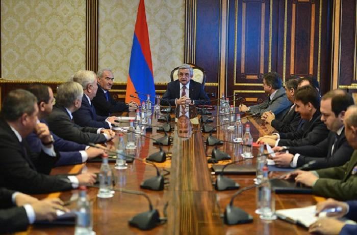 Sarkisyan Təhlükəsizlik Şurasını topladı - Problemlərdən danışıldı