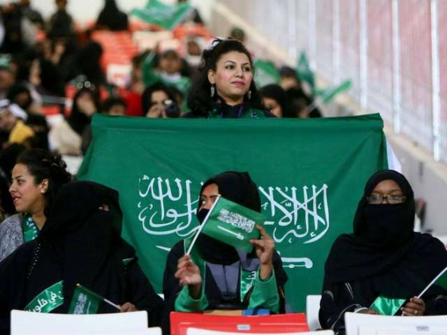 Saudi Arabia allows women to attend football matches for first time