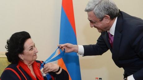 Sərkisyan Kabalyeni mükafatlandırdı