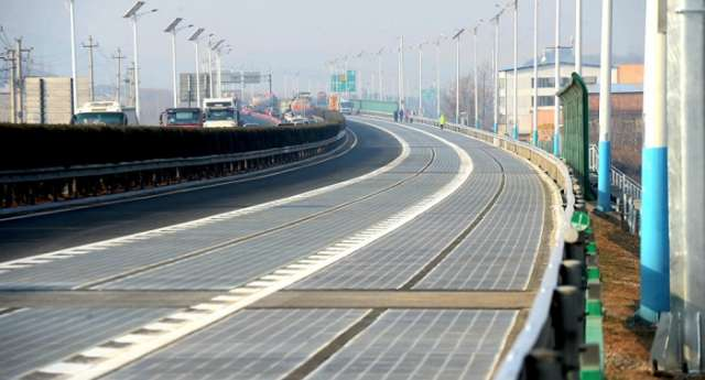 Part of China's solar panel highway stolen 5 days after it opened