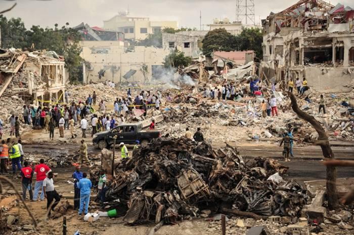 Somalidəki partlayışda ölənlərin sayı 276-ya çatıb