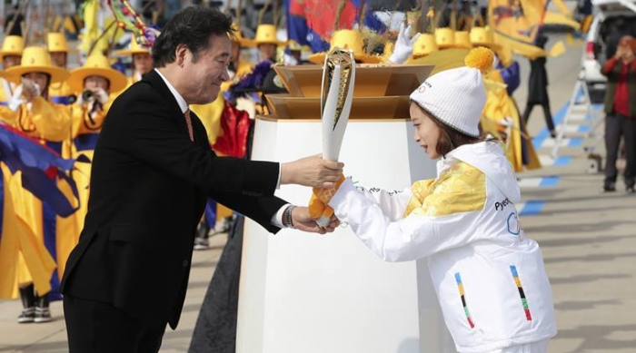 Olympic flame for 2018 Winter Games reaches South Korea