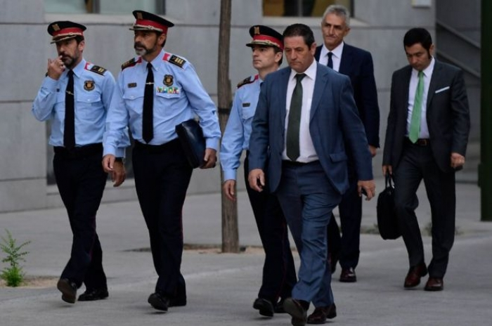 Catalan police chief in Madrid court in 'sedition' probe