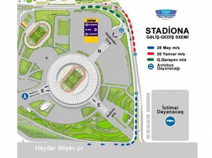 Olimpiya Stadionu azarkeşlərə müraciət etdi