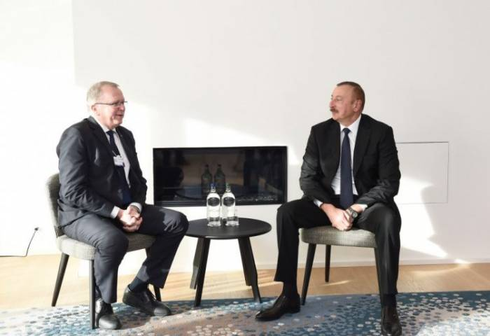 """Prezident """"Statoil""""-in direktoru ilə görüşüb - Yenilənib"""