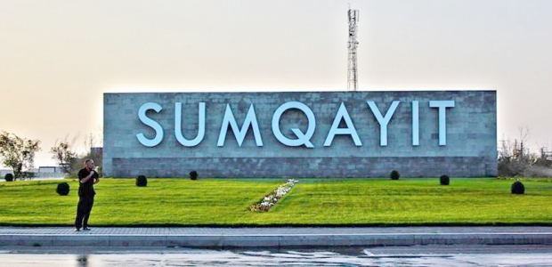 """Sumqayıtda """"yaşıl"""" dövlət binalarının açılışı oldu"""
