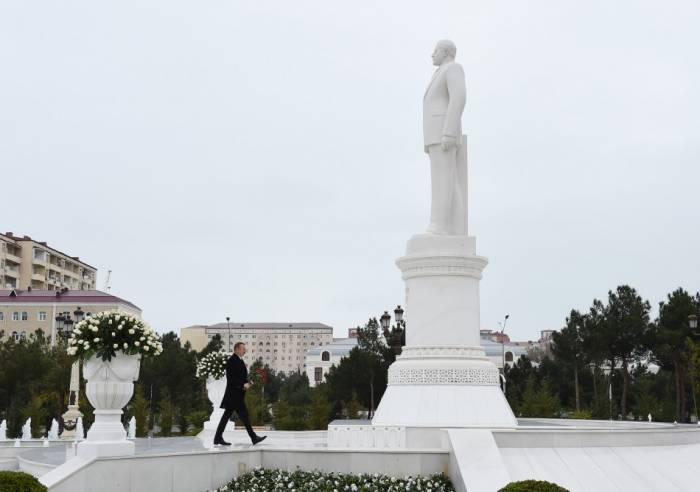 Ilham Aliyev est arrivé dans la ville de Soumgaït
