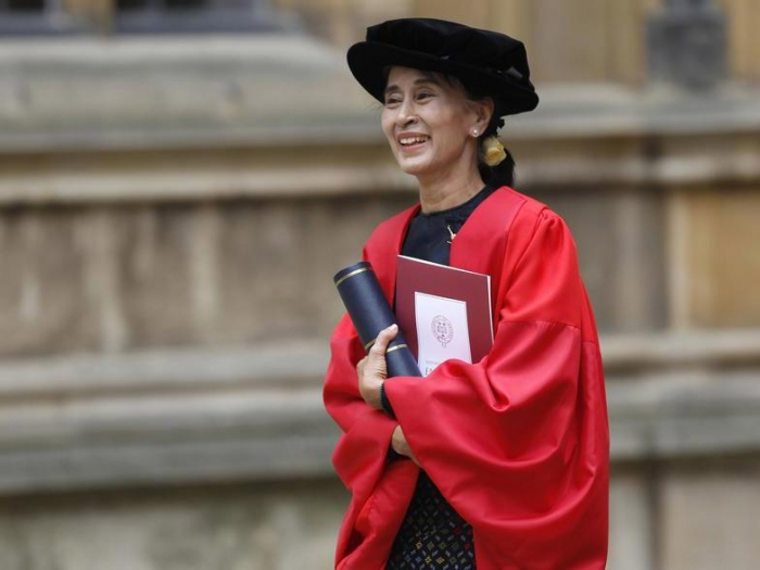 Oxford strips Aung San Suu Kyi of Freedom of the City