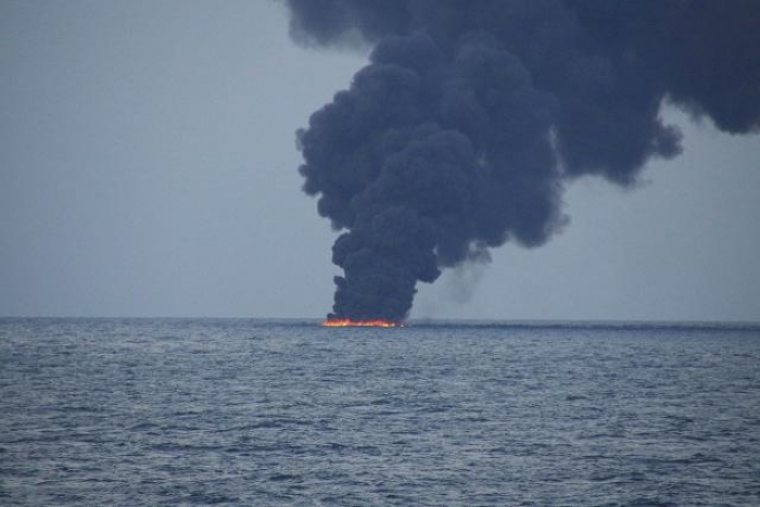 Black smoke billows from tanker sinking site as worry grows over sea damage