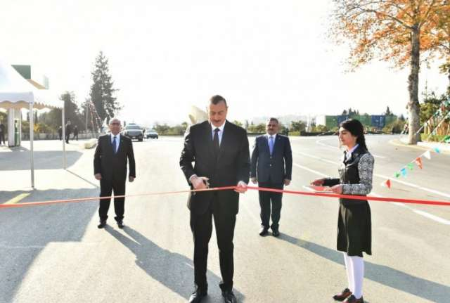 President Aliyev attends several openings in Tartar - UPDATED