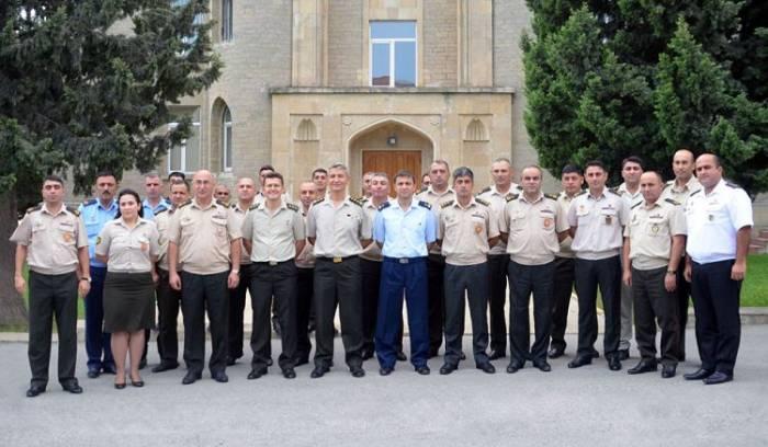 Hərbi Akademiyada təlim kursu keçirilir