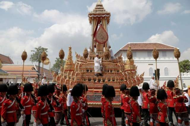 Thai capital draped in yellow as tens of thousands gather for late king's funeral
