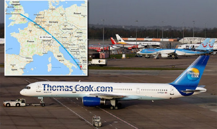 Passenger storms off Thomas Cook flight after ROW with his wife