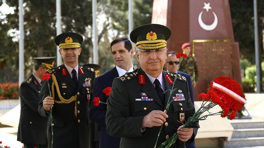 Türkiyənin Baş Komandanı Bakıya gəlib - Fotolar