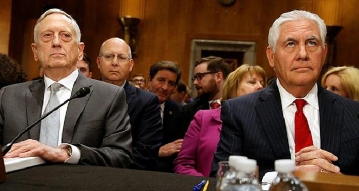 Tillerson, Mattis warn against expanding Trump's war authority