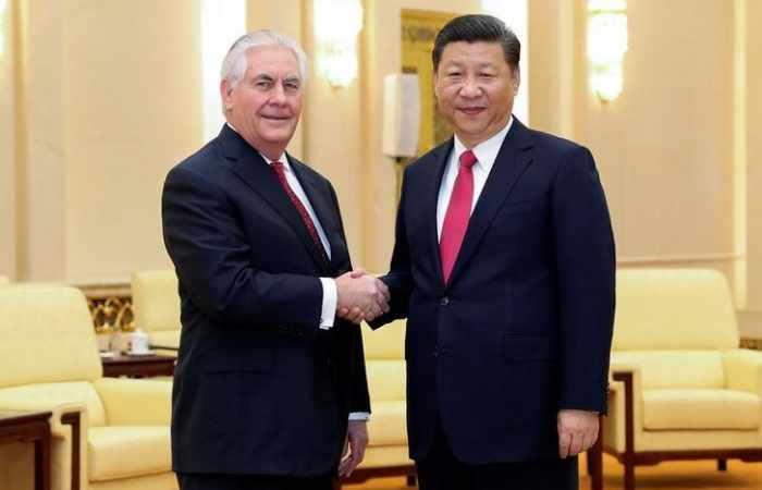 Tillerson ends China trip with warm words from President Xi