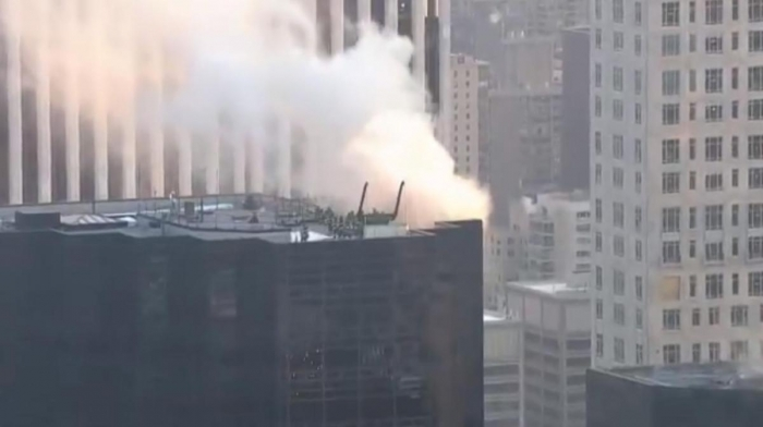 Fire breaks out on roof of Trump Tower