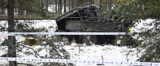 Train slams into Finnish military truck at crossing; 4 dead