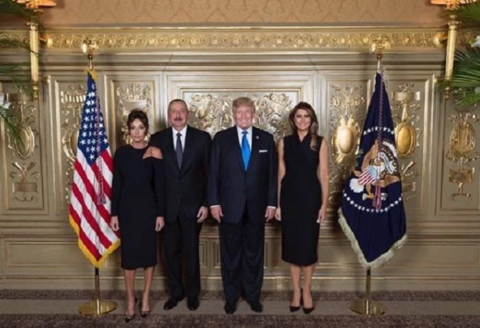 Ilham Aliyev trifft sich mit dem US-Präsidenten Donald Trump