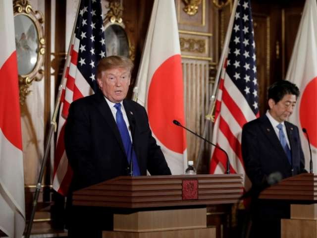 Donald Trump stands with Japanese PM to warn 'era of strategic patience' with North Korea over