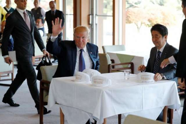 Trump lands in Japan, says U.S. and allies are prepared to defend freedom