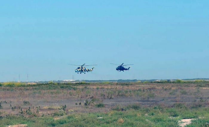 Azerbaijan-Turkey drills underway with attack helicopters