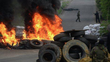 Ukrayna DİN: Slavyanskda bir pilot ölüb, yaralılar var