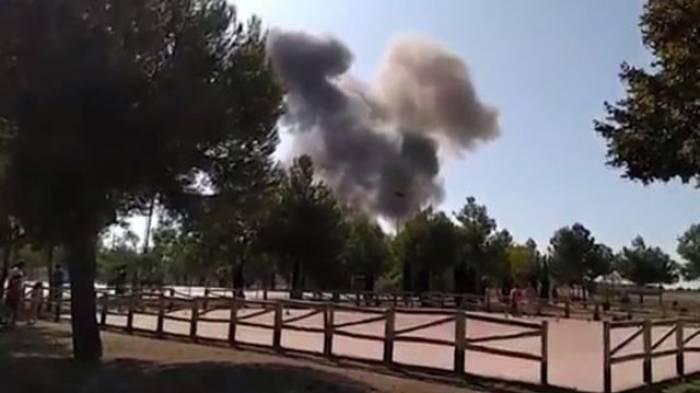 Un avion militaire s'écrase après le défilé de la fête nationale en Espagne
