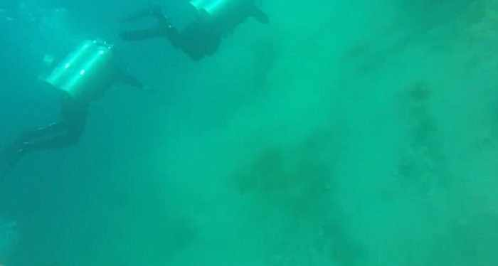 Divers caught in a 5.7 magnitude earthquake - NO COMMENT