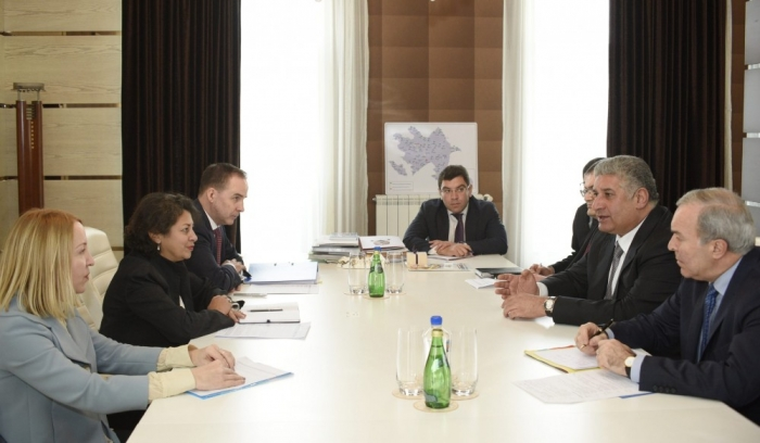 Azerbaijan`s Minister of Youth and Sports meets UNICEF Regional Director