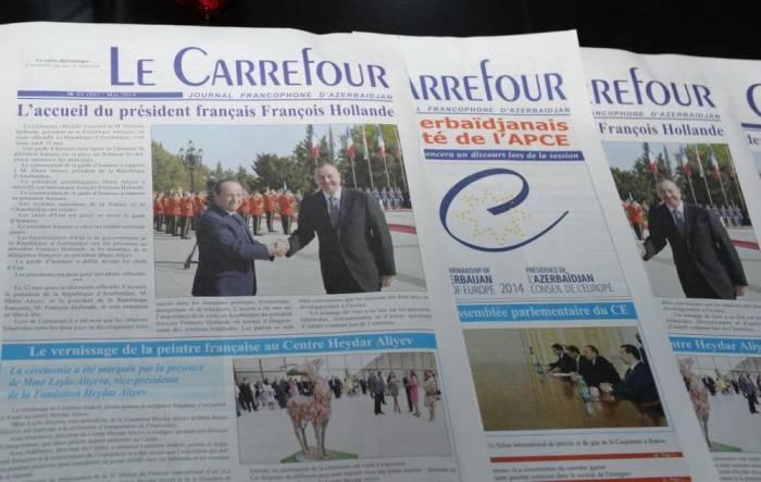 """""""Le Carrefour"""" qəzetinin 10 yaşı tamam oldu"""