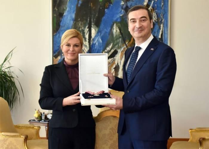 Xorvatiya prezidenti Azərbaycanın səfirini təltif edib