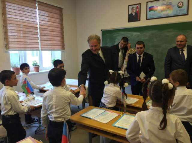 US Builds new school for IDP community from Lachin region's Chiragli village
