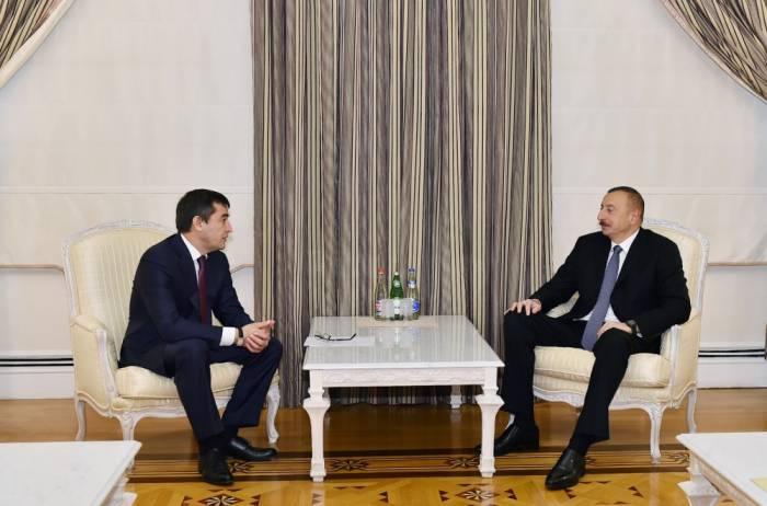 Ilham Aliyev admitió al viceprimer ministro uzbeko