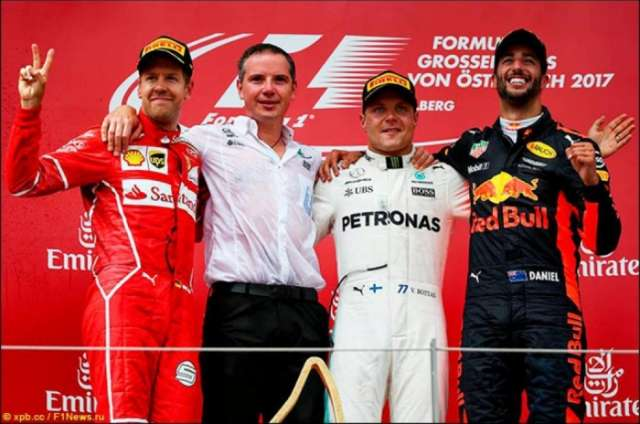 Mercedes' Valtteri Bottas wins Austrian Grand Prix