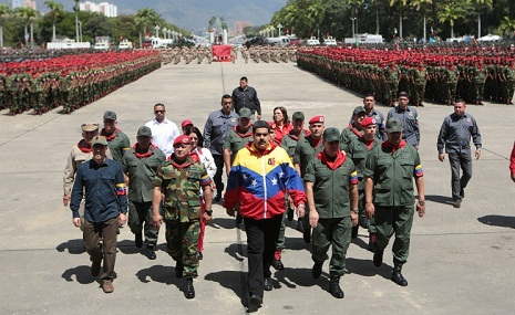 Venezuelan president calls to create shield to protect country from possible US aggression