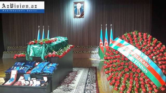 Farewell ceremony for Azerbaijani Energy Minister Natig Aliyev in Baku