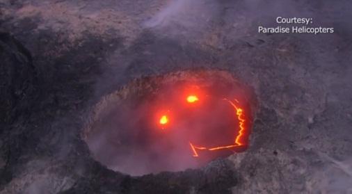 La Terre avait un message pour nous, et elle nous l'a fait passer dans de la lave en fusion